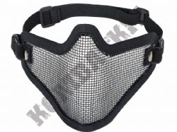 Airsoft Mask Wire Mesh Lower Half Face Safety Protector Black